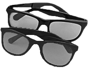 SO010 Standard 3-D Polarized Viewers (5/pkg)