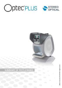 Optec 2300 vision screener optical eye tester optometry w/ manual.