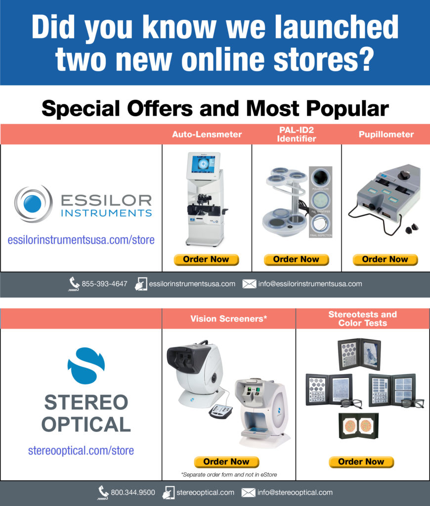 Visit Essilor Instruments and Stereo Optical Stores