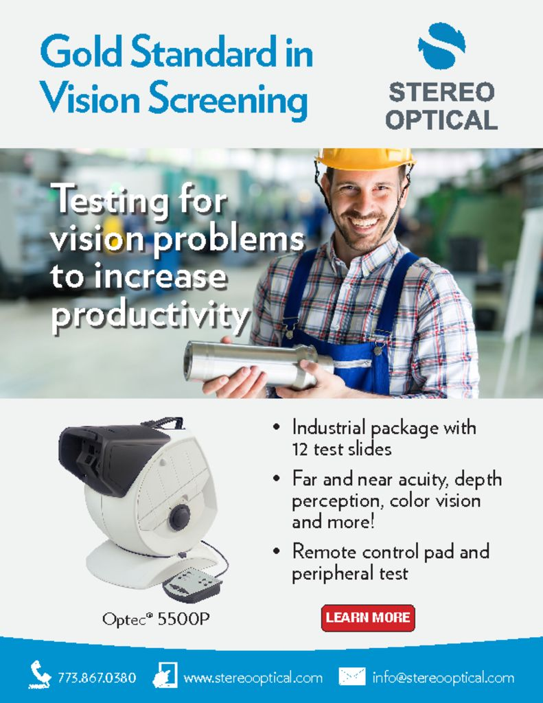thumbnail of Stereo Optical Employee Vision Screening